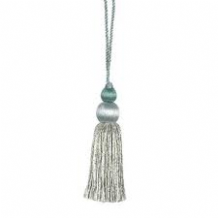 Wemyss Ioko key / cushion tassel - Decorative sewing trimming trim Duck egg blue